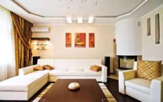 Натяжные потолки в гостиной: секреты эффектного и стильного дизайна