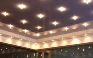 Крепление светильников к натяжному потолку- советы и рекомендации мастеров