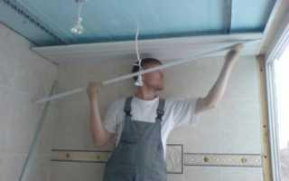 Потолок на лоджии: как отделать своими руками