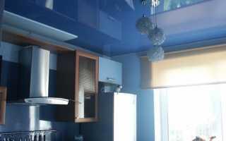 Глянцевый потолок на кухне и в жилых помещениях – преимущества выбора и варианты отделки