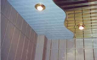 Реечный потолок в ванной комнате своими руками: технология монтажа