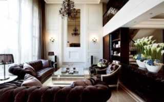 Высокие потолки: дизайн кухни и гостиной