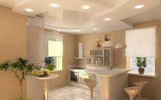 Потолки из гипсокартона на кухне: варианты дизайна и принципы установки