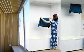 Потолочная сушилка для белья своими руками: преимущества и инструкция по монтажу