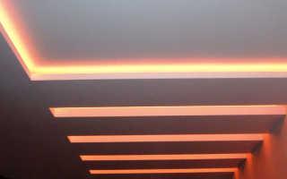 Подсветка потолка: как установить диодную, светодиодную ленту для подсветки, монтаж потолочной ленточной подсветки, как сделать освещение по периметру своими руками