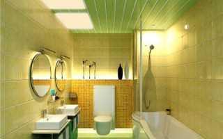 Потолок в ванной из пластиковых панелей: долговечная и красивая отделка