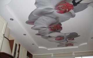 Печать на натяжных потолках: эффектная декоративная техника при популярном способе отделки
