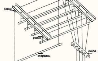 Как повесить сушилку для белья потолочную: особенности конструкции и правила монтажа