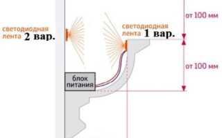 Как прикрепить светодиодную ленту к потолку: советы по монтажу