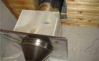 Проход трубы через потолок бани: самостоятельный монтаж конструкции