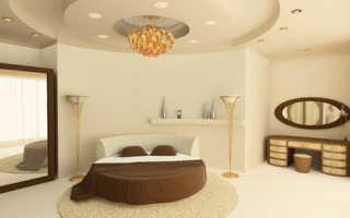 Потолки из гипсокартона в спальне: достоинства материала и варианты освещения