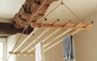 Балконная сушилка для белья потолочная: правила выбора и технология установки
