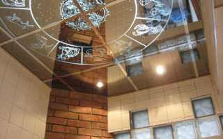 Зеркальный потолок в ванной или гостиной – эффектная отделка
