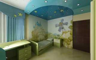 Потолок в детской комнате мальчика и девочки – как его лучше оформить
