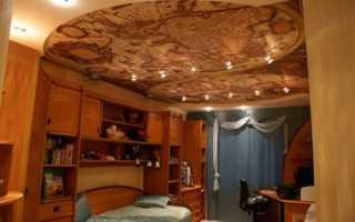Фотопечать на потолок: натяжной, подвесной, стеклянный