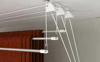 Установка потолочной сушилки для белья: инструкция по монтажу