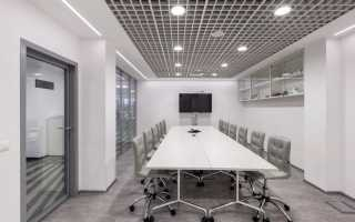 Подвесной потолок Грильято: монтаж решетчатых конструкций, виды и размеры ячеек