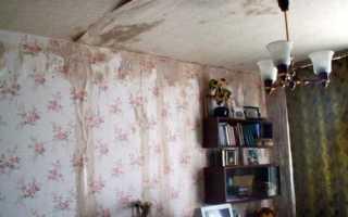 Как убрать воду с натяжного потолка и что для этого нужно