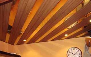 Потолок подвесной реечный: как угадать с дизайном и количеством материала