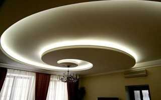 Потолок из гипсокартона с подсветкой: модная интерьерная техника своими руками