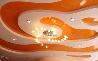 Потолки из гипсокартона фигурные: как сделать фигурный потолок из ГКЛ, потолочные фигуры