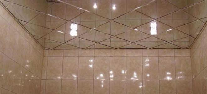 Зеркальные панели на потолок: виды, способы установки, фото