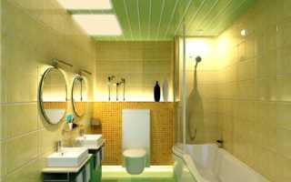 Подшивной потолок из гипсокартона, деревянных и ПВХ-панелей