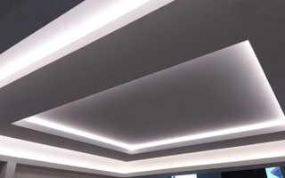 Парящий потолок из гипсокартона: как сделать монтаж подвесного потолка с подсветкой своими руками