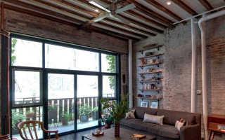 Потолок Лофт: как сделать потолок в стиле Лофт, какой выбрать, деревянный потолок, потолочный плинтус