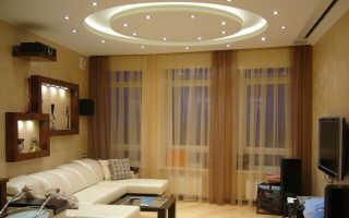 Круглый потолок из гипсокартона: как сделать круг на потолке с подсветкой, натяжной двухуровневый потолок