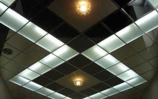 Кассетный потолок: выбор кассет и монтаж своими руками