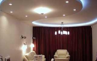Двухуровневый потолок из гипсокартона своими руками: руководство по монтажу