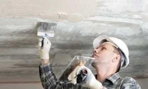 Подготовка потолка к покраске: обработка потолка перед покраской водоэмульсионной краской, как зачистить, как подготовить потолок, последовательность покраски, шлифовка