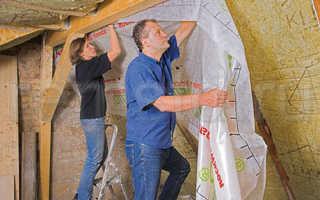 Как укладывать пароизоляцию на потолок: выбор материала и нюансы работ