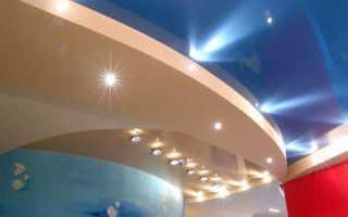 Светодиодные светильники для натяжного потолка: разновидности и монтаж