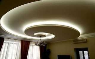 Дизайн подвесных потолков из гипсокартона для спальни и зала