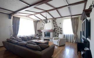 Декоративные балки на потолок: имитация балок на потолке в интерьере, потолочные балки в деревянном доме, монтаж балок из полиуретана своими руками, отделка