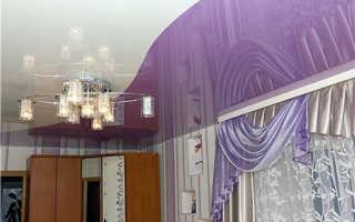 Цветные натяжные потолки в спальне и гостиной – неограниченные возможности дизайна