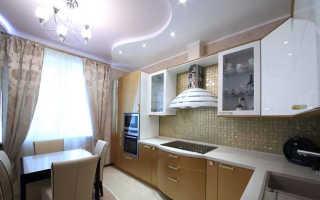 Потолок на кухне из гипсокартона: дизайн подвесного потолка с подсветкой, как сделать потолок из ГКЛ, отделка фигурного потолка