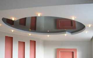 Потолки из гипсокартона в гостиной: простая и практичная навесная конструкция