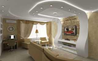Дизайн потолков в гостиной: самые актуальные и свежие идеи