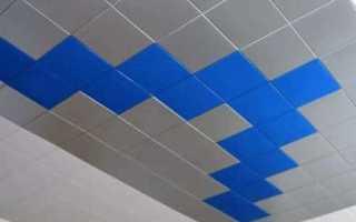 Плитка для подвесного потолка: виды и особенности дизайна