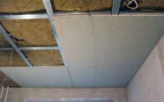 Обрешетка потолка под гипсокартон: выбор материала и правила монтажа
