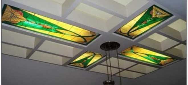 Витражные потолки – эффектный элемент стильного интерьера