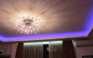Потолочный карниз с подсветкой: технология монтажа