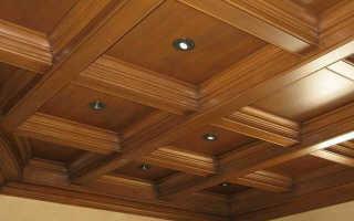 Кессонный потолок: из дерева, из полиуретана, как сделать деревянный кессонированный потолок, потолочные кессоны, устройство
