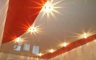 Натяжные комбинированные потолки: преимущества и варианты сочетаний