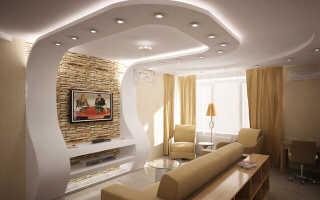 Потолки из гипсокартона: виды красивых декоративных потолков в комнате, сложные, прямоугольные, двухуровневые