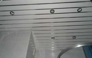 Навесной потолок в ванной комнате своими руками