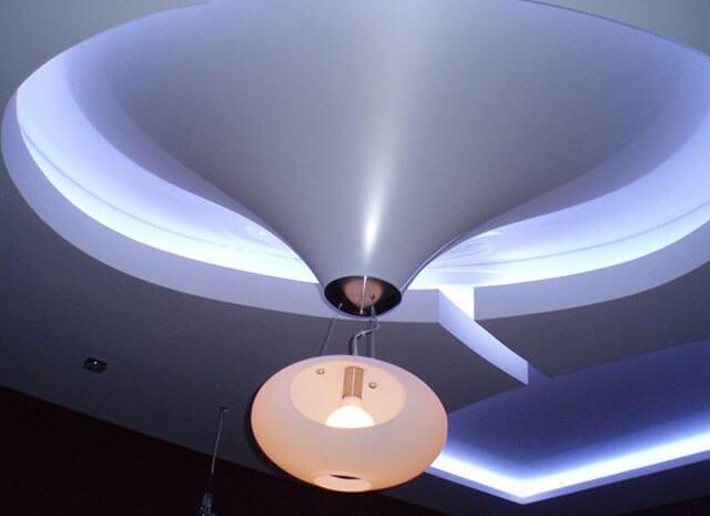 освещение натяжные потолки